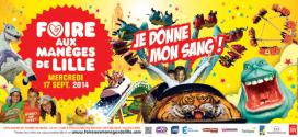 Journée PROMO à la Foire aux Manèges de Lille + Don du Sang