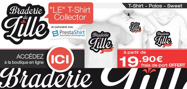 Découvrez la Boutique Braderie-de-Lille.fr en partenariat avec PRESTASHIRT