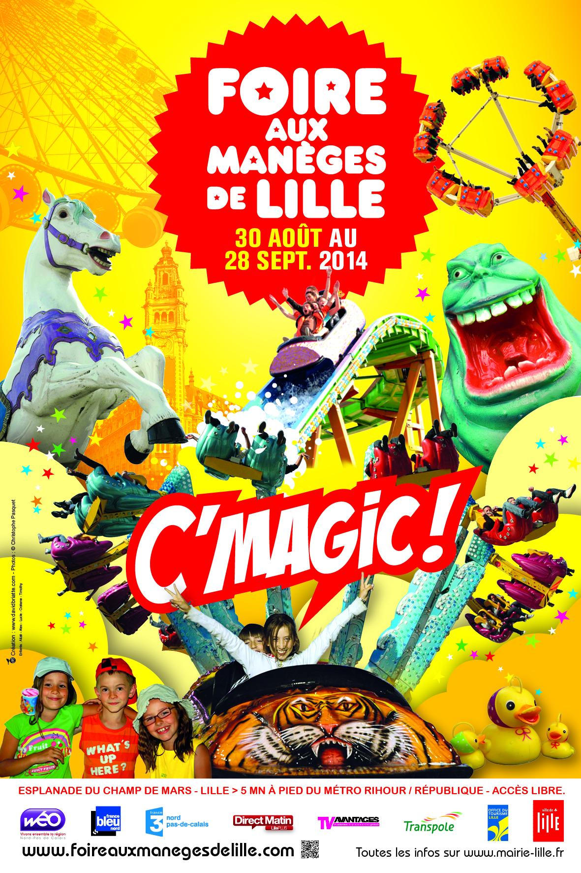 Affiche officielle de la Foire aux manèges de la Braderie de Lille 2014