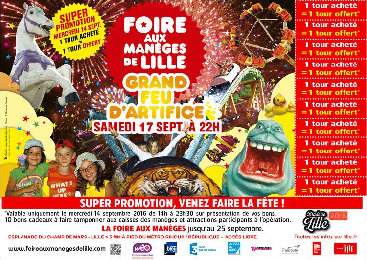 Journée PROMO foire aux manèges de Lille 2016