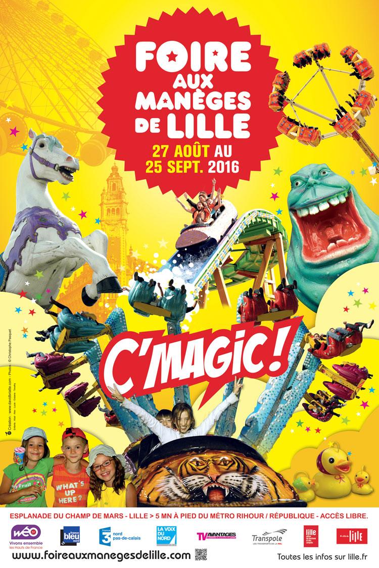 Inauguration de la Foire aux Manèges de Lille 2016